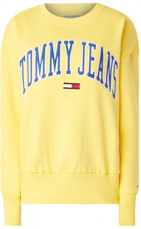 Tommy Jeans 6.0 limited capsule Sweatshirt met ronde hals en logo in bordeauxrood